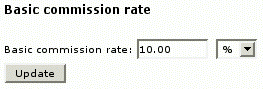 Figure 6: Changing basic commission rate