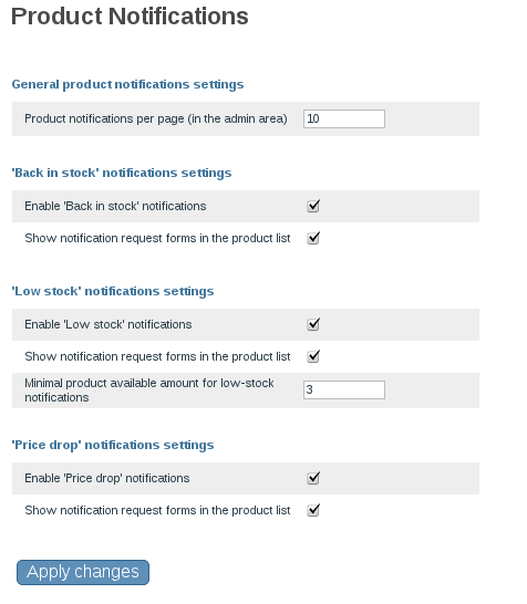 X-product notificatons configuration page.png